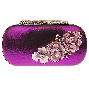 Floral Beaded Mini Evening Clutch Bags