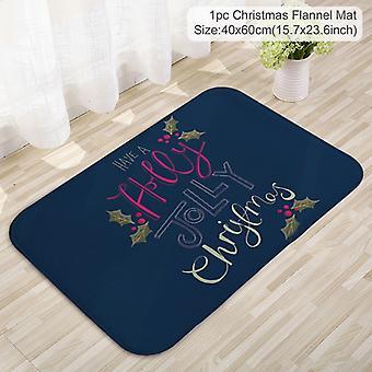Weihnachtstürmatte Weihnachtsmann Flanell Outdoor Teppich Heiraten Weihnachtsdekorationen für zu Hause Weihnachten Ornament Geschenke
