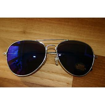 Pilotenbrille Pornobrille US-Cop Aviator Brille blauspiegelnd