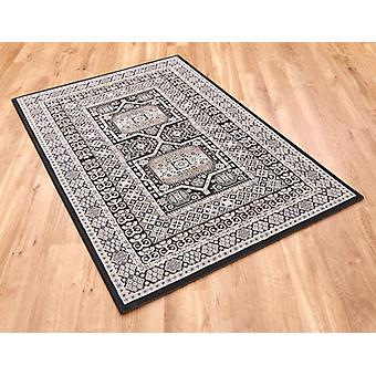 Da Vinci 57147 3636 Black  Rectangle Rugs Traditional Rugs