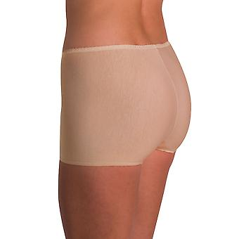 Naomi and Nicole Edgies Nude Laser Cut Boyshort A146