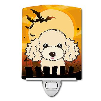 Carolines Treasures  BB1816CNL Halloween Buff Poodle Ceramic Night Light