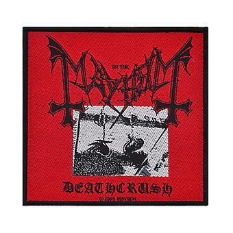 Mayhem Deathcrush vävda plåster