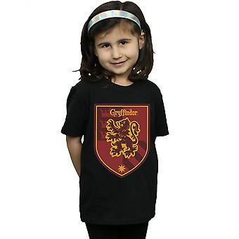 Harry Potter Girls Gryffindor Crest Flat T-Shirt