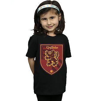 Harry Potter Mädchen Gryffindor Crest flache T-Shirt