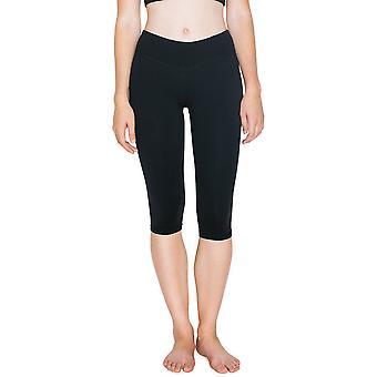 American Apparel kvinners/damer knehøye Nylon Fitness bukser