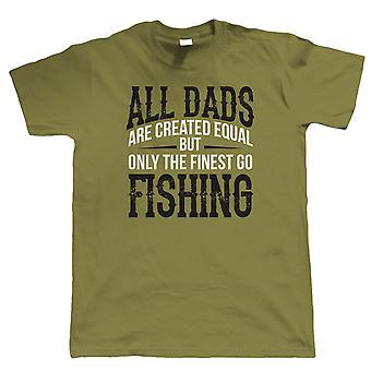 Feinste Väter gehen Angeln, Herren T Shirt - Vatertag Geburtstag Karpfen Geschenk Papa Xmas