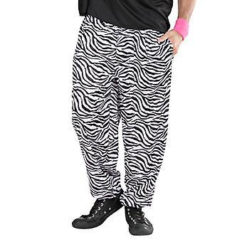 años 80 pantalones holgados - cebra
