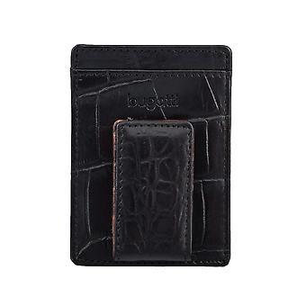 Bugatti kaarten houder visitekaartje badge houder met clip zwart 4316