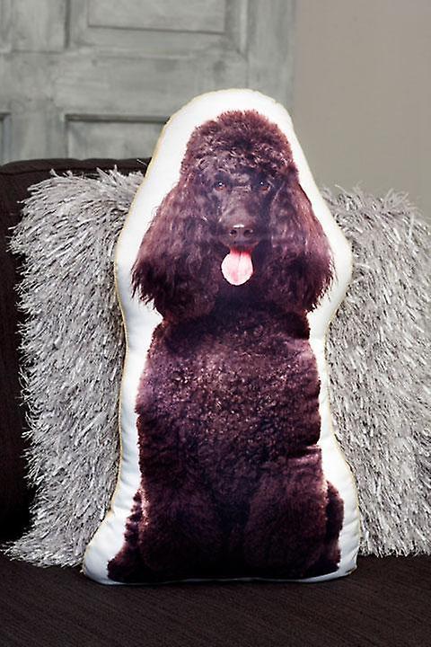 Adorable black poodle shaped cushion