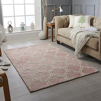 Tapis Medina tisserands rose Rectangle tapis Plain/presque ordinaire