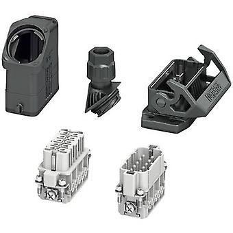 Phoenix Kontakt HC-EVO-A10UT-BWS-HH-M20-PLRBK Set mit Hülsengehäuse, Steckverbindergehäuse, Schraube, Stiftkontakteinsatz und Steckkontakteinsatz Inhalt: 1 Set