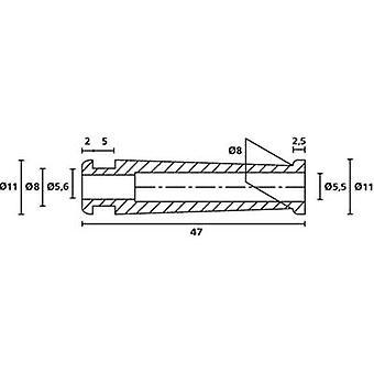HellermannTyton HV2206 PVC-FR BK 500 Bend relief Terminal Ø (max.) 5.6 mm PVC Black 1 pc(s)