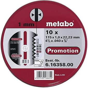 Metabo 616358000 Cutting disc (straight) 115 mm 22.23 mm 10 pc(s)