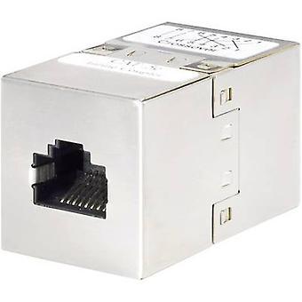 Renkforce RJ45 (cross-over) Networks Adapter CAT 5e [1x RJ45 socket - 1x RJ45 socket] Metal