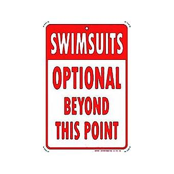 Zwemkleding optionele reliëf Metal Sign