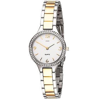 JOBO ladies wrist watch quartz analog stainless steel with Crystal element ladies watch