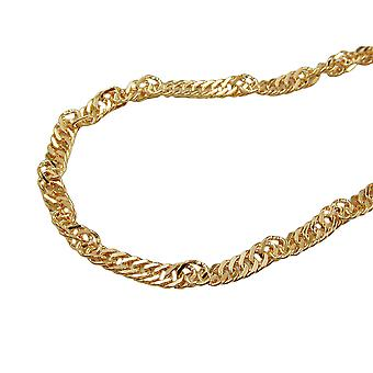 Chain 42 cm 1.8 mm Singapore chain 9Kt GOLD