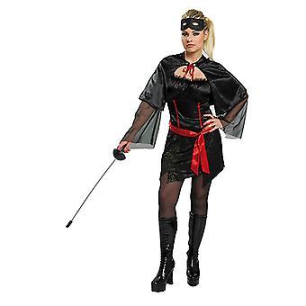 Mystery girl kostym svart för kvinnor