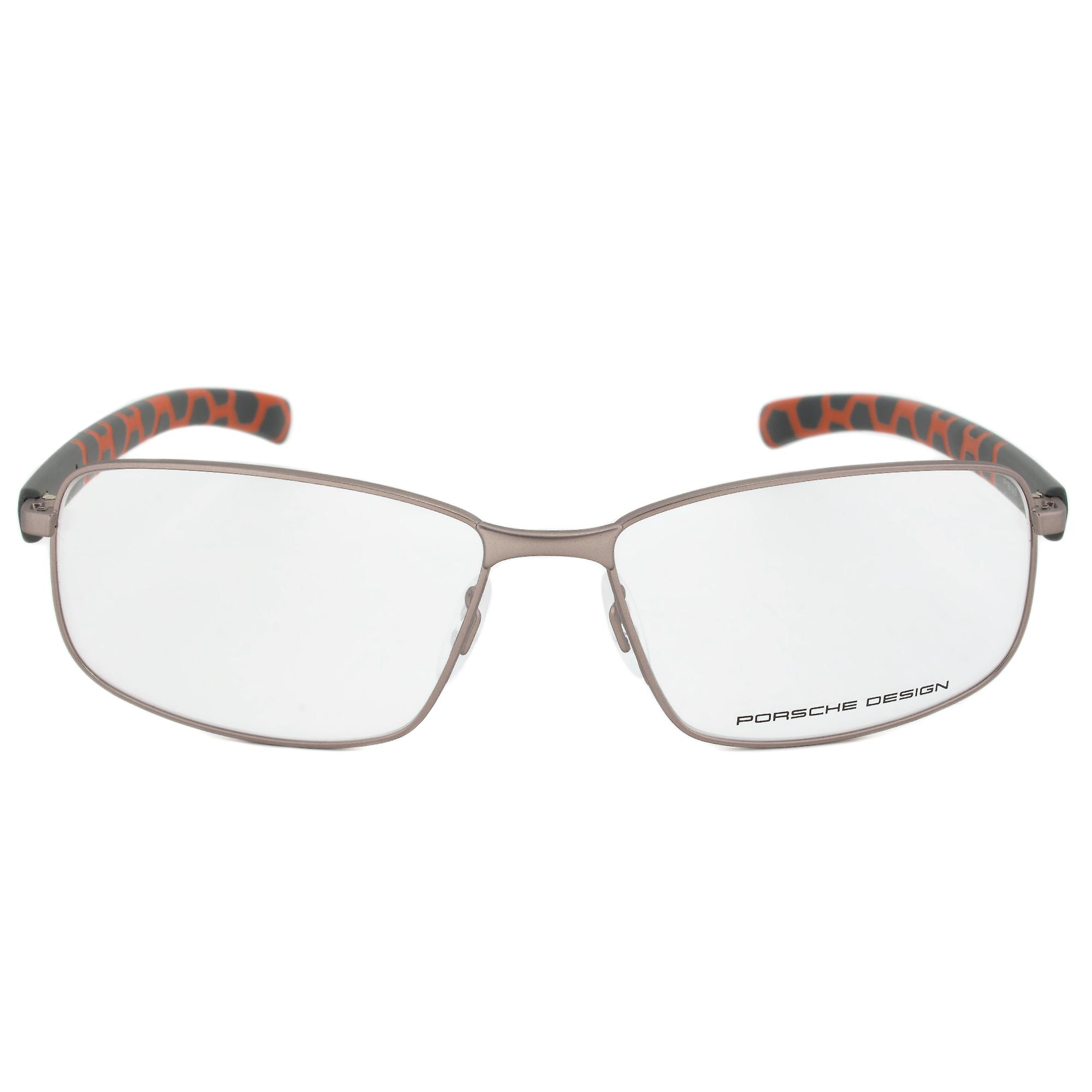Porsche Design P8199 B Rectangular   Light Gunmetal  Eyeglass Frames