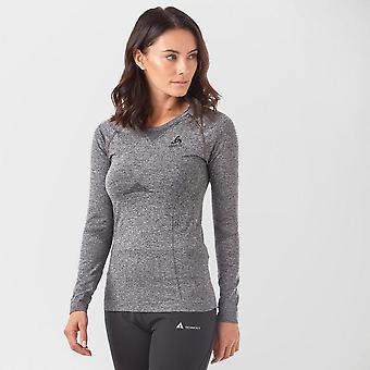 Nouveau Odlo Women's SUW Performance Light Long Sleeve Baselayer Top Grey