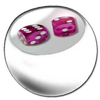 Piercing udskiftning bolden hvid, krop smykker, terninger Pink | 1,6 x 5 og 6 mm