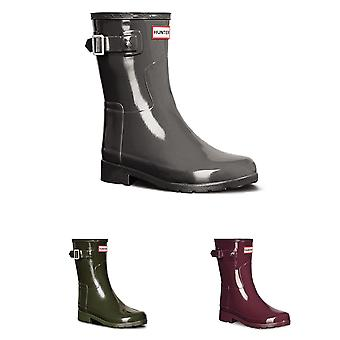 Womens Hunter Original verfijnd Gloss korte wintersneeuw regen Rubber laarzen UK 3-9