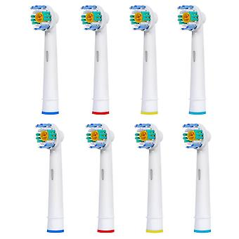 Toothbrush heads Oral B compatible 3D White 8x EB-18A