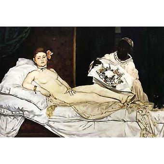 Edouard Manet Olympia,Edouard_Manet,60x40cm