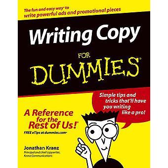 Writing Copy For Dummies by Jonathan Kranz - 9780764569692 Book