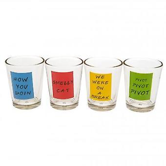 Vänner 4pk snapsglas Set