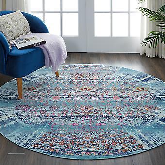 Vintage Kashan Circluar dywany Vka02 przez Nourison w kolorze niebieskim
