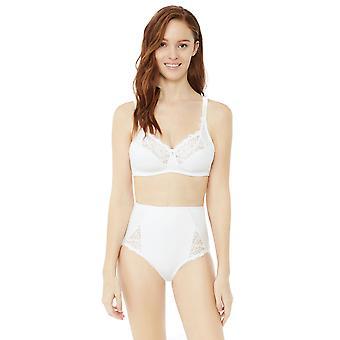 Bestform 6440-10 Women's Cocoon White Solid Colour Full Panty Highwaist Brief