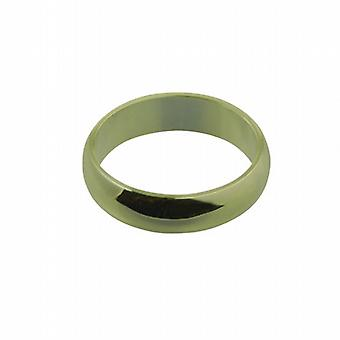 18ct Gold 6mm plain D shaped Wedding Ring Size Z