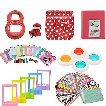 Accessory Sets for Fujifilm Instax Mini 8/9-Dotted red