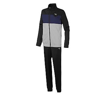 Puma Tricot Kids Fitness Training Sports Tracksuit Set Black/Grey
