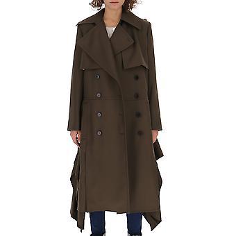 Chloé Chc18wma1306723o Women's Brown Acetate Trench Coat