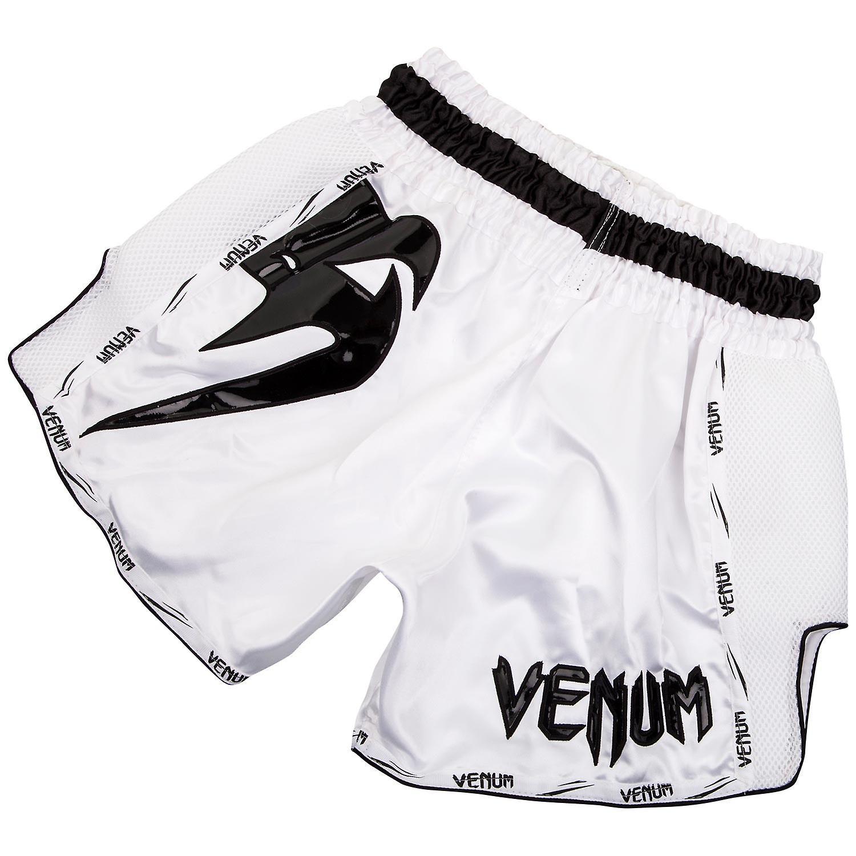 VM Mens gigantiske Muay Thai Shorts - hvit/svart