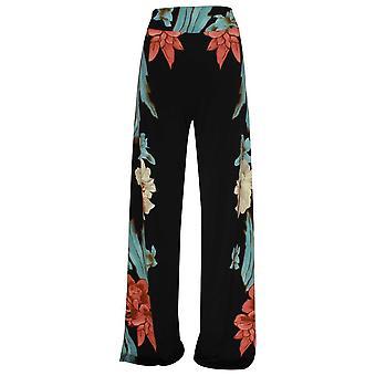 Frank Lyman Wide Leg Bold Floral Print Trousers