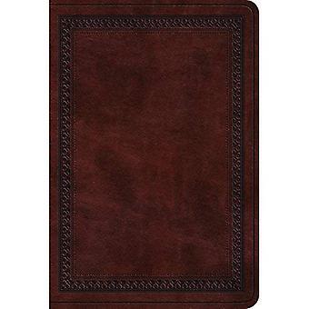 ESV-Wert großer Print kompakte Bibel (Trutone, Mahagoni, Bordürenmuster)