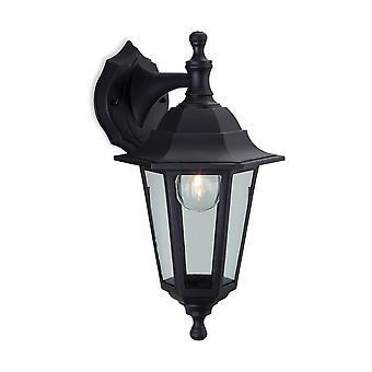 Firstlight-1 luz de pared al aire libre linterna-Uplight/Downlight negro resina IP44-8349BK