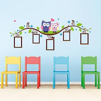 Seinä koriste-pöllöt ja valo kuvat 133 x 52 cm