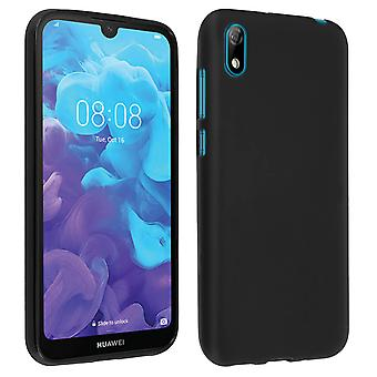 Silicone case, Glossy & matte back cover for Huawei Y5 2019,Honor 8S - Black