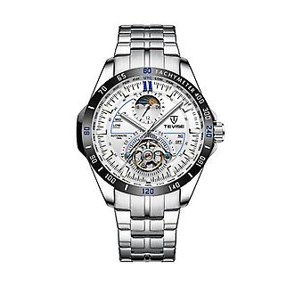 Tevise Mens Homage Automatic Mechanical Watch Blue Silver Smart Watches T855