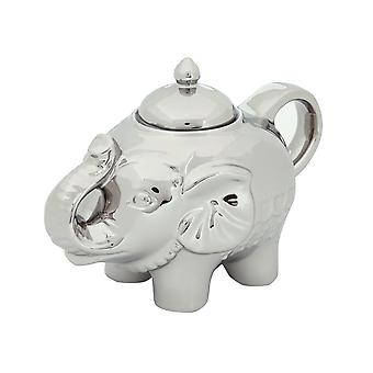 Bia Elephant Shape Blingaphant Porcelain Sugar Pot with Lid, Platinum