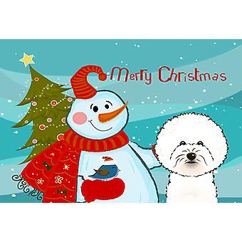 Carolines Treasures BB1837PLMT Bonhomme de neige avec Bichon Frise Fabric Placemat