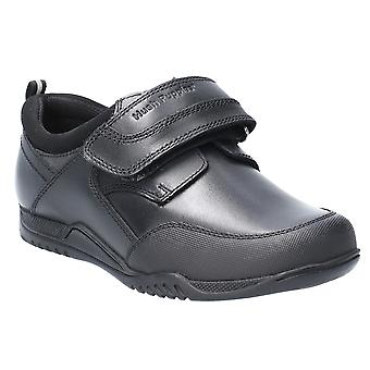 Hush Puppies Boys Noah Leather Slip On School Shoes