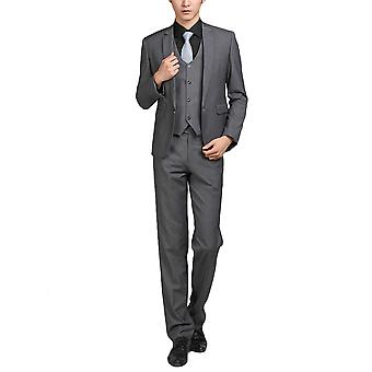 Allthemen Men's Trajes de 2 piezas Solid Grey Business Blazer&Pants