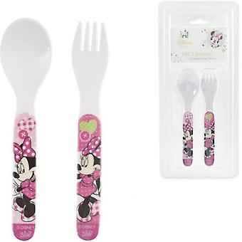 Lulabi Fork-Spoon Minnie (Kitchen , Household , Child's)