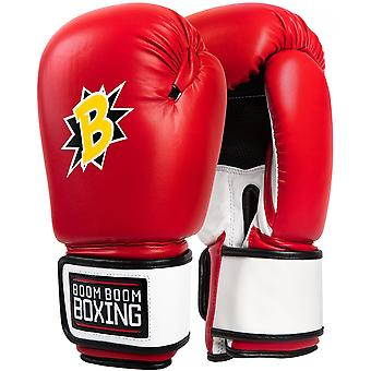 Titre Boxe Boom Boom Bomber Training Gants de boxe - Rouge / Blanc / Noir